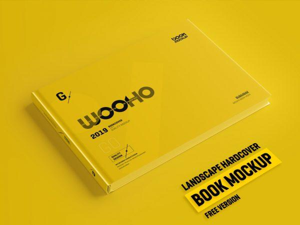 Free Hardcover Book PSD Mockup