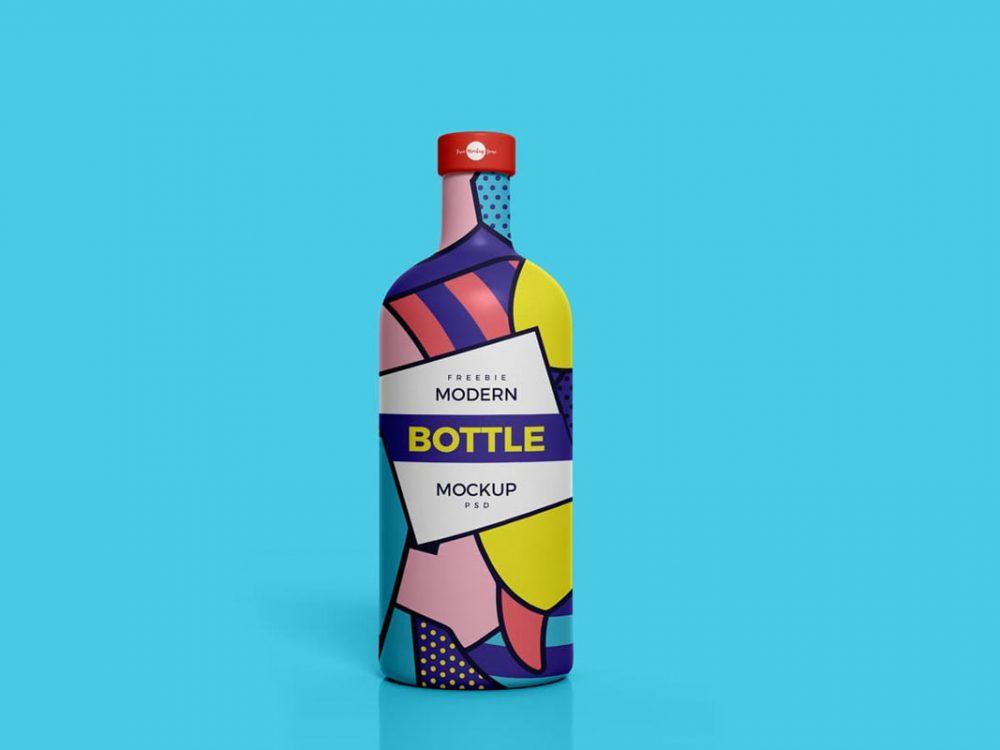 Free Bottle Mockup PSD