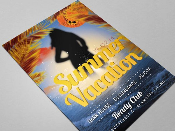 Vacation Free Flyer Mockup