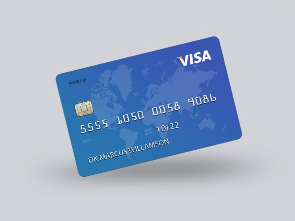 Free Credit Card Mockup Template