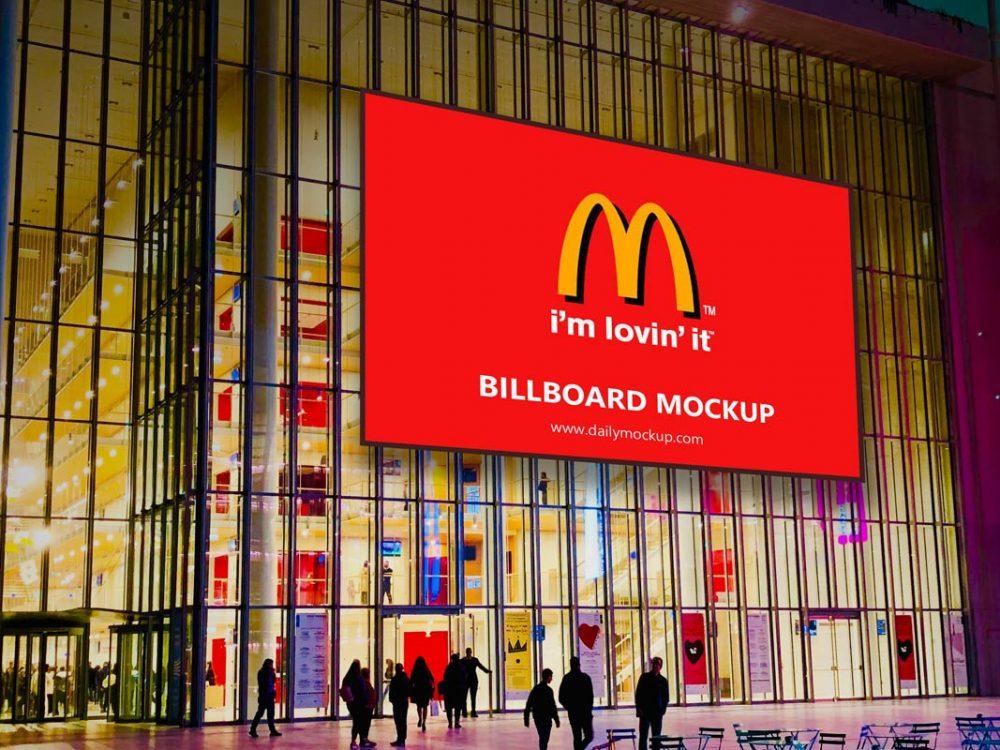 horizontal billboard mockup