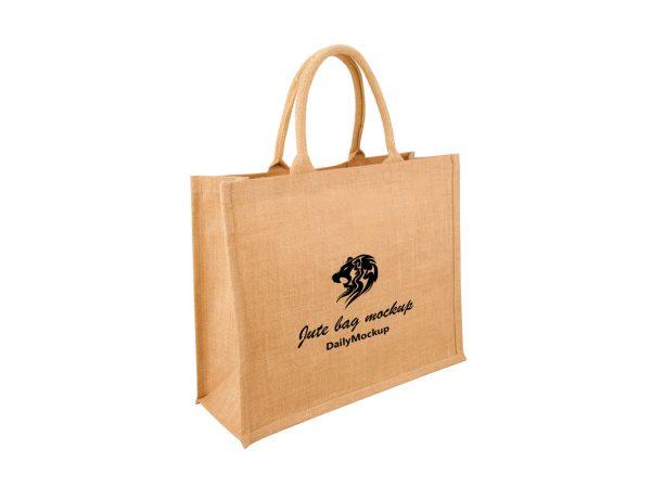 jute bag mockup free