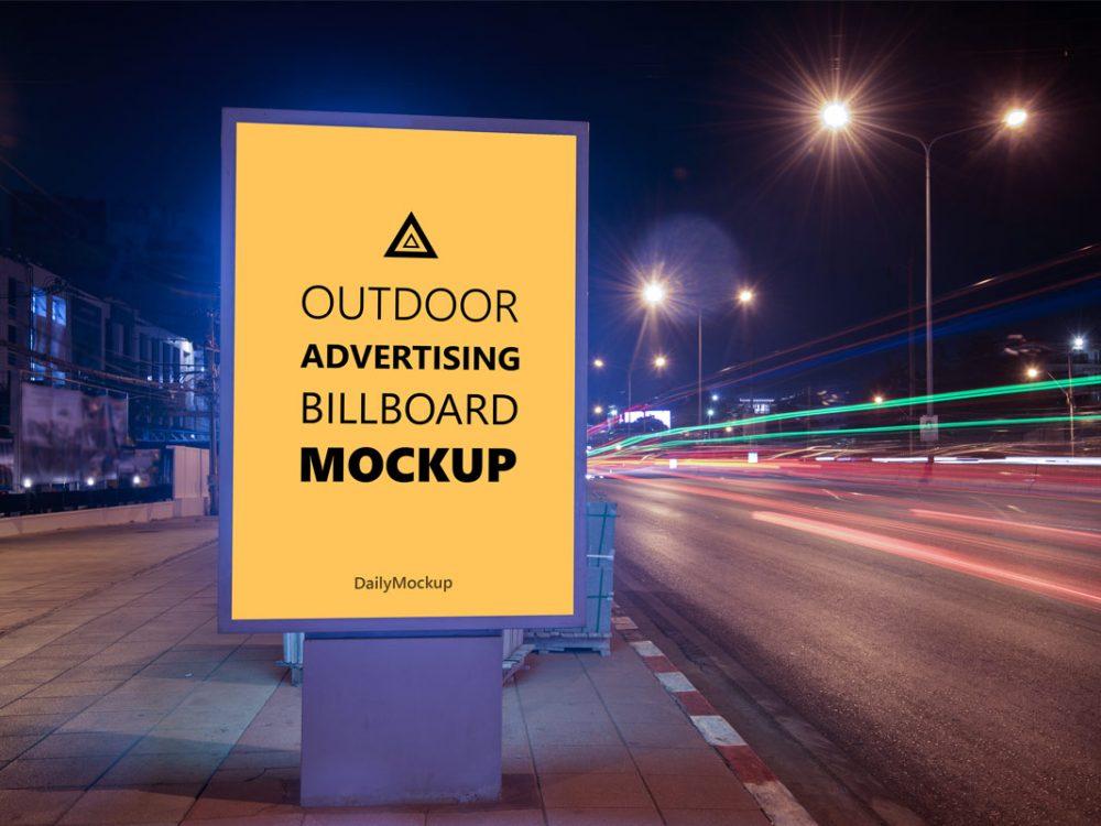 Advertising Billboard Mockup Free