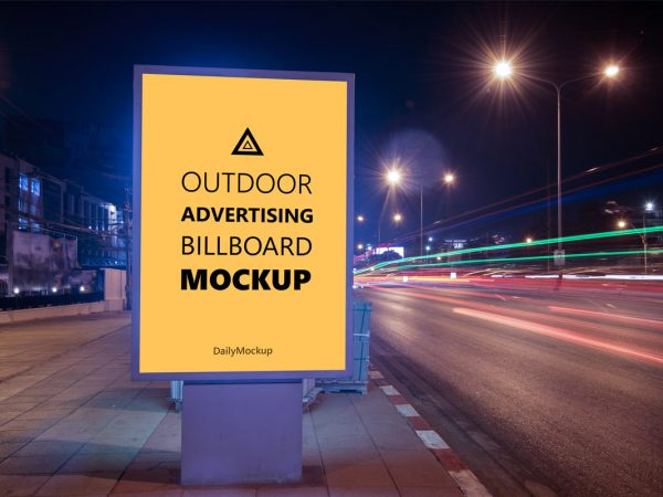 Advertising Billboard Mockup Free