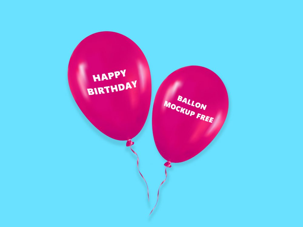 balloon mockup free