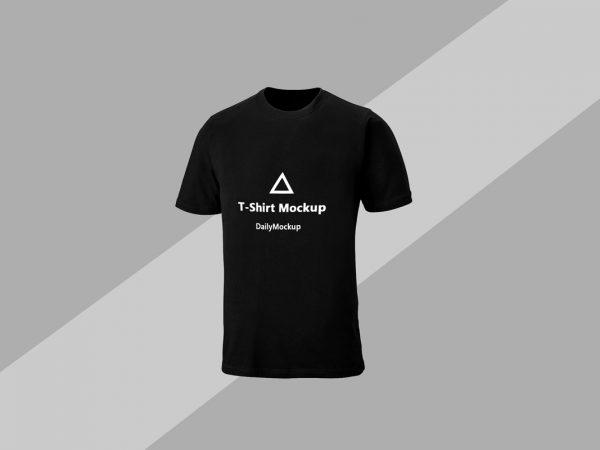 Free Black T-shirt Mockup