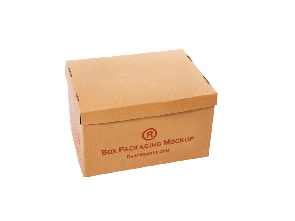 Box Packaging Mokcup