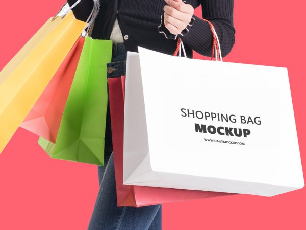 shopping bag mockup free