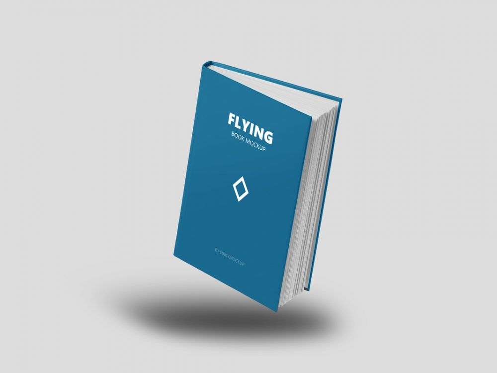 Flying Book Mockup Free