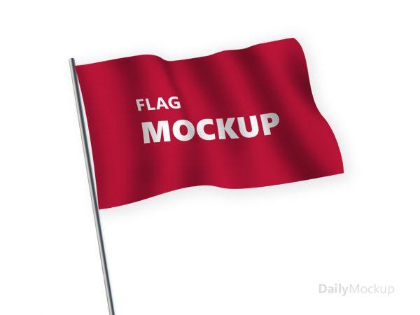 psd flag mockup