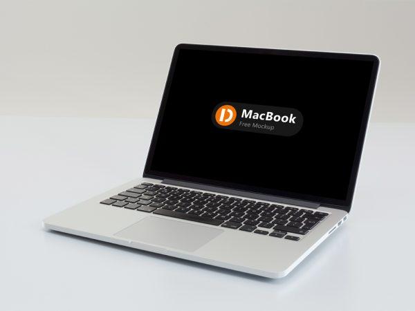 MacBook Free PSD Mockup