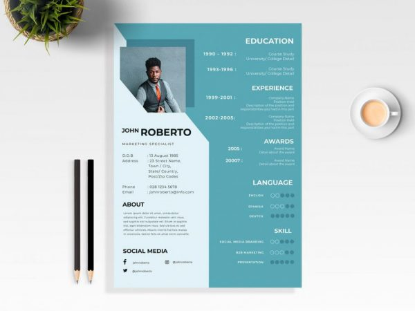 Resume Templates 2020 Daily Mockup