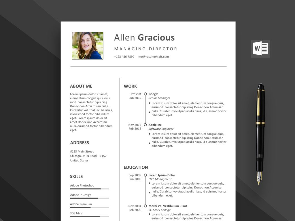 Word Resume Template Free Download 2020 Daily Mockup