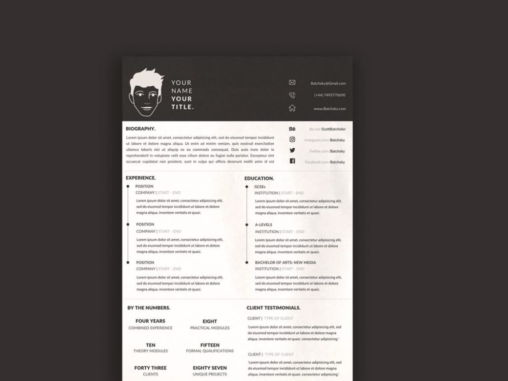 Free CV Resume Template