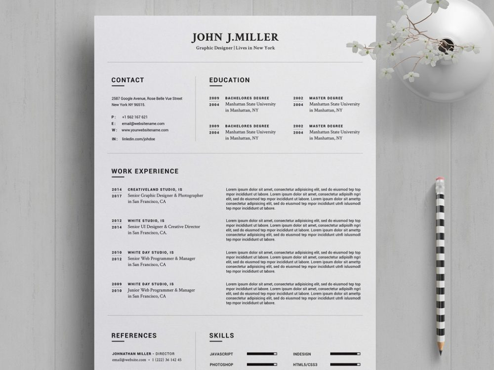 Free Word Resume Template