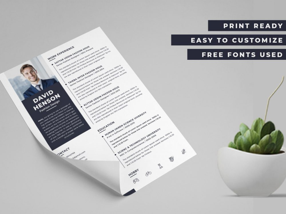 Modern Resume Template In Pdf Format 2020 Daily Mockup