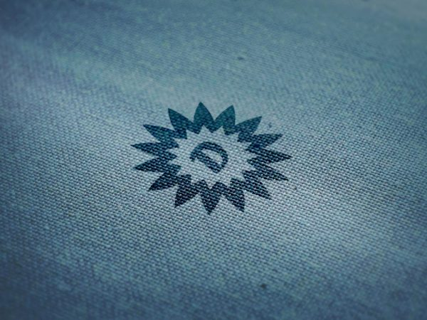 Free Logo Mockup on Wool Fabric Texture