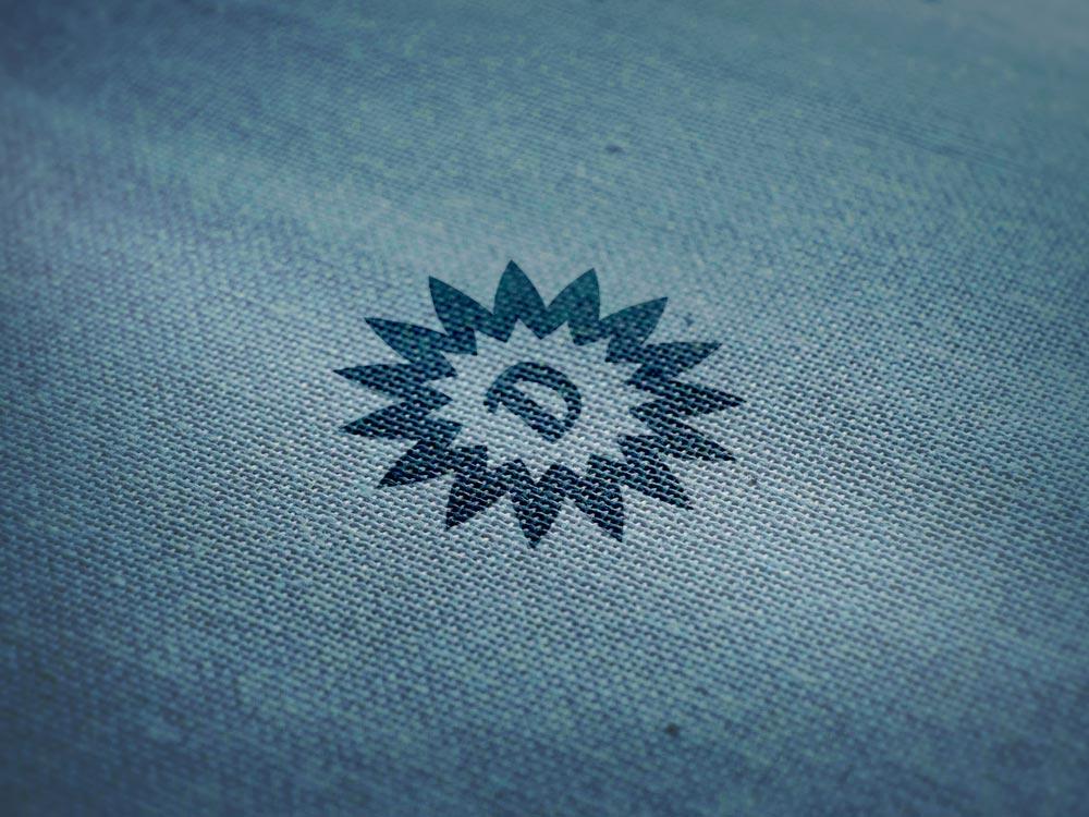 Free Logo Mockup on Wool Fabric Texture