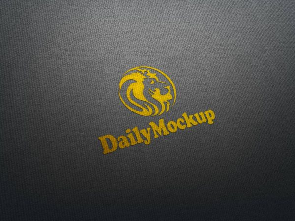 Fabric Logo Mock-up Free