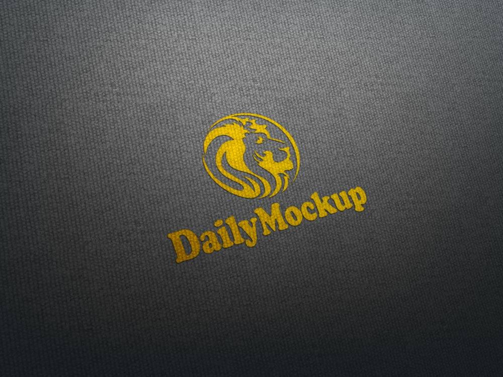 Fabric Logo Mock-up Free
