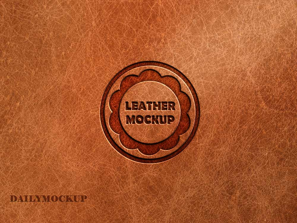pressed leather logo mockup free 2020 daily mockup pressed leather logo mockup free 2020