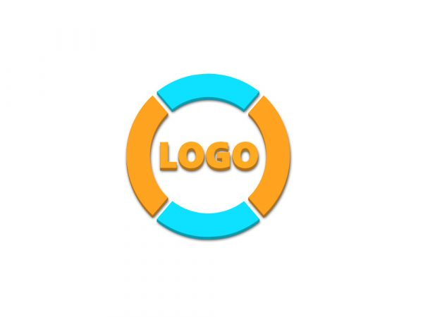 Simple Free 3D Logo Mockup