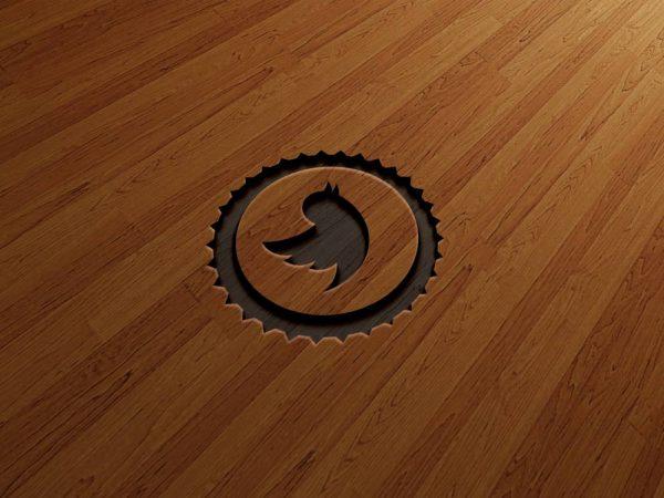 Wood Pressed Free logo Mockup