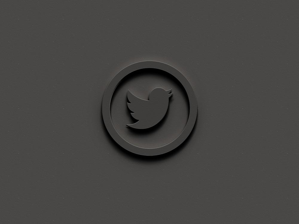 Embossed 3D Logo Mockup Free PSD