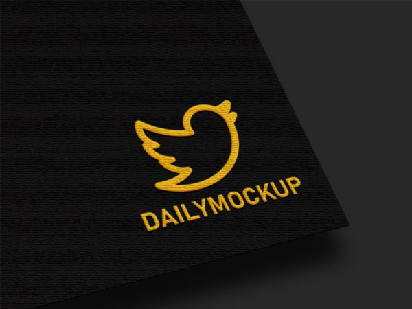 Free Logo Mockup on Texture Card
